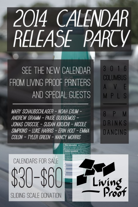 2014 Calendar Release Party - This FRIDAY!